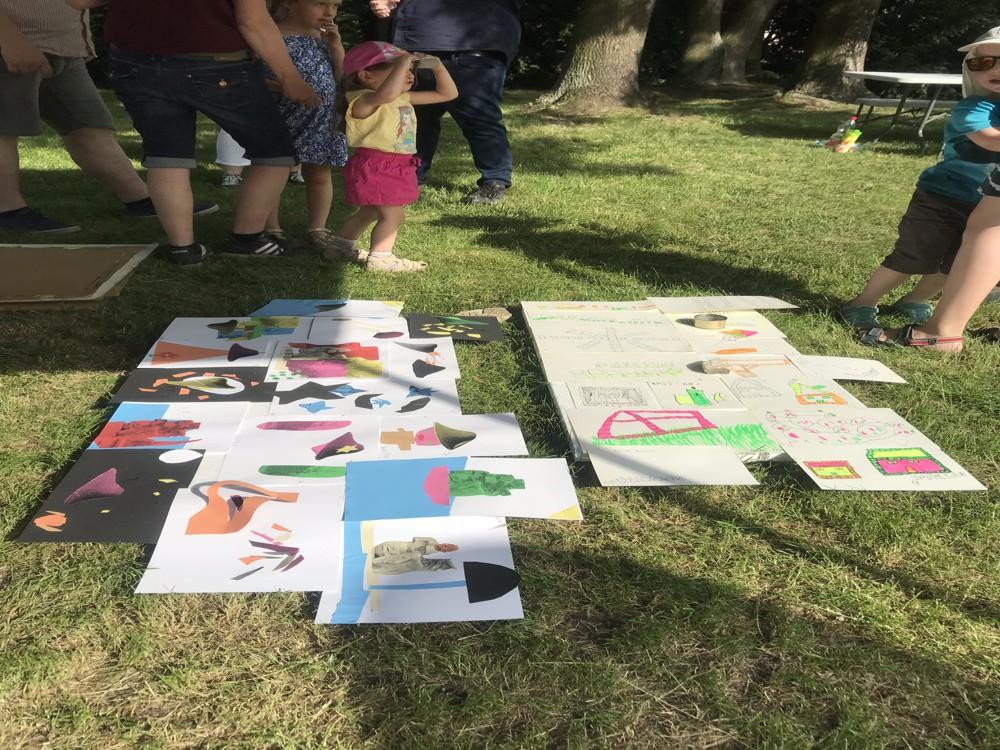 Víkend otevřených zahrad 2019 - Ukázka z dětských děl na téma parku Střed