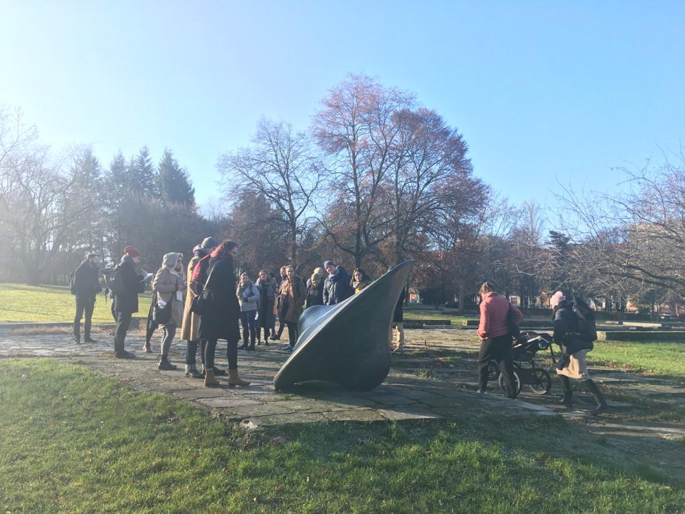 Setkání pěti týmů architektů a krajinářů v parku Střed.